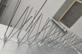 Instalace hrotů proti holubů – Praha, Samcova